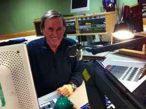 Photo of Terry Wogan in the BBC Radio 2 studio